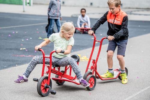 Der Eröffnungsanlass steht ganz im Zeichen von Spiel und Spass. (Bild: Nadia Schärli, Luzern, 15. Juli 2019)