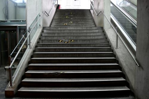 Der Treppenaufgang zum Waaghaus ist diese Woche gesperrt. (Bild: PD)