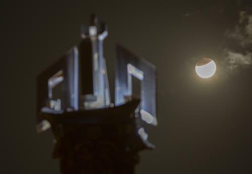 Die partielle Mondfinsternis aufgenommen in Islamabad, Pakistan. (Bild: B.K. Bangash)