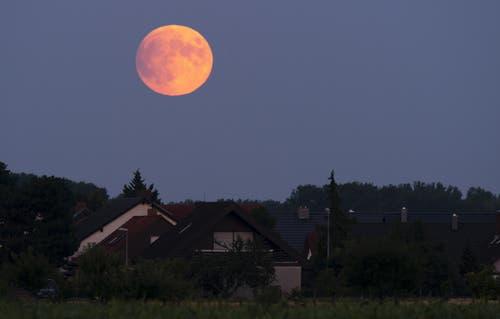 Die partielle Mondfinsternis aufgenommen in Speyer, Deutschland. (Bild: Ronald Wittek)