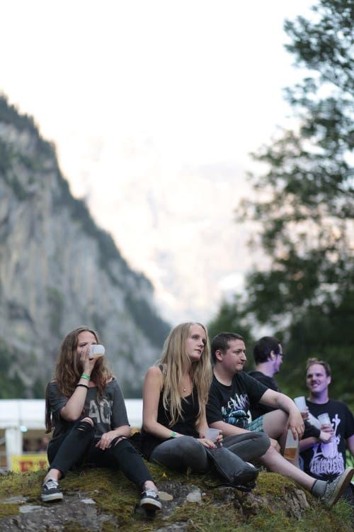 Das Open Air Rüchä Rock zog am Freitagabend vor allem ein Metal-Publikum an. (Bild: Florian Arnold, 19. Juli 2019)