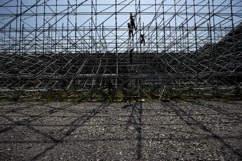 Verbaut werden 300'000 Einzelteile. (Bild: Alexandra Wey / Keystone, 24. Juli 2019)