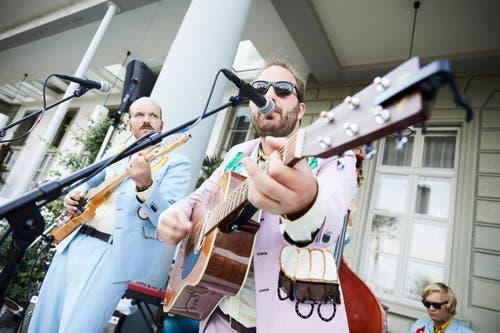 Die Luzerner Band Ophelias Iron Vest beim «Schweizerhof». (Bild: Jakob Ineichen, 24. Juli 2019)