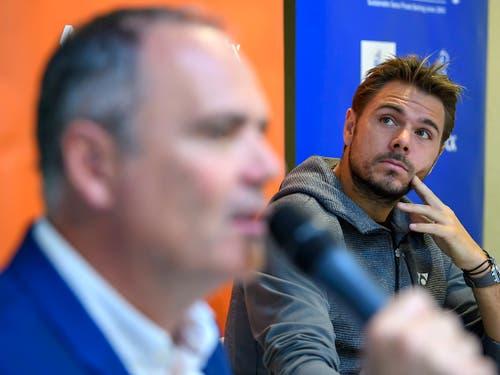 Jeff Collet: «Während 14 Jahren als Turnierdirektor in Gstaad musste ich stets erklären, warum Roger Federer nicht kommt, und in den letzten Jahren warum Federer und Stan Wawrinka beide nicht kommen.» (Bild: KEYSTONE/MARTIAL TREZZINI)