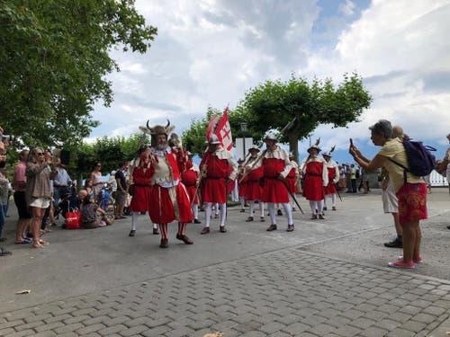 Die Nidwaldner Harst beeindruckte an der Fête de Vignerons. (Bild: Zentralschweizer Regierungskonferenz)