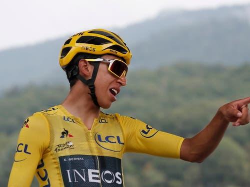 Im Alter von erst 22 Jahren zeigte der Kolumbianer an dieser Tour de France allen anderen, wo es langgeht (Bild: KEYSTONE/EPA/GUILLAUME HORCAJUELO)