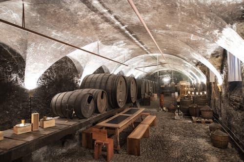 Der Weinkeller unterhalb des Klosters. (Bild: Keystone/Urs Flüeler, Engelberg, 17. Juli 2019)
