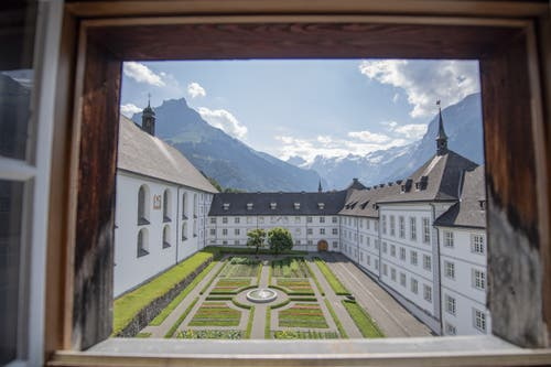 Der Innenhof. (Bild: Keystone/Urs Flüeler, Engelberg, 17. Juli 2019)