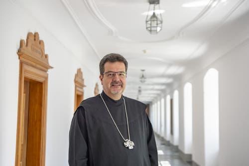 Der 59. Abt von Engelberg, Christian Meyer. (Bild: Keystone/Urs Flüeler, Engelberg, 17. Juli 2019)