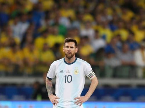Lionel Messi bleibt mit Argentiniens A-Nationalmannschaft ohne Titel (Bild: KEYSTONE/AP/RICARDO MAZALAN)