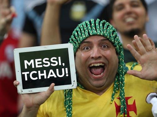 Für die brasilianischen Fans gibt es kaum etwas Schöneres als einen Sieg gegen den Erzrivalen (Bild: KEYSTONE/AP/NATACHA PISARENKO)