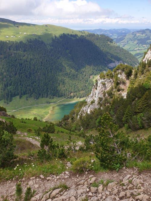 Der Abstieg von der Stauberen zum Sämtisersee ist einer der steilsten Abschnitte der Strecke.