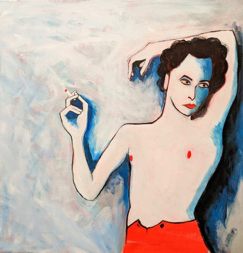 «Melancholie» (Acryl auf Leinwand, 50x50 cm)