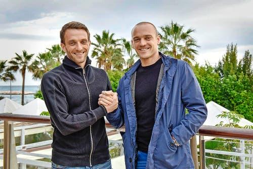 Spielten einst beim FC Luzern zusammen: Christian Schneuwly (links) und sein Bruder Marco. (Bild: Martin Meienberger / Freshfocus)
