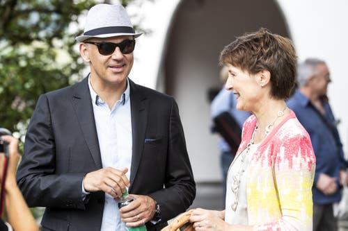 Alain Berset und Simonetta Sommaruga. (Bild: Alexandra Wey/Keystone, Schwyz, 4. Juli 2019)