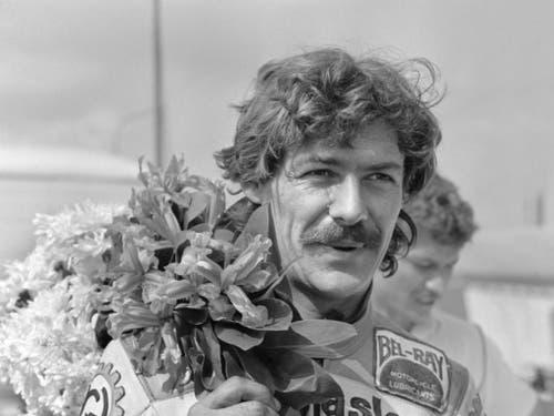 Stefan Dörflinger im April 1983 nach seinem GP-Sieg in Monza (Bild: KEYSTONE/STR)