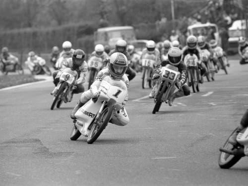 Stefan Dörflinger 1983 auf einem 50-ccm-Motorrad (Bild: KEYSTONE/STR)