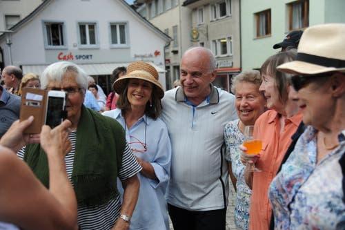 Bundespräsident Ueli Maurer ist ein beliebtes Motiv. (Bild: Urs Hanhart, 4. Juli 2019)
