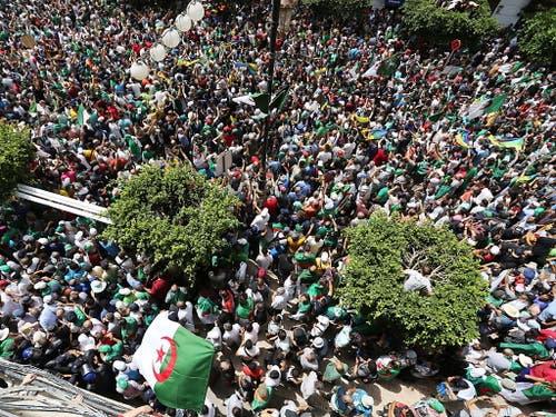 Zehntausende Menschen forderten den Rücktritt des Regimes. (Bild: KEYSTONE/EPA/STR)
