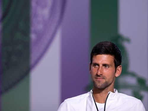 Novak Djokovic hatte als Präsident des Spielerrats einige unbequeme Fragen zu beantworten (Bild: KEYSTONE/EPA AELTC/AELTC/FLORIAN EISELE)