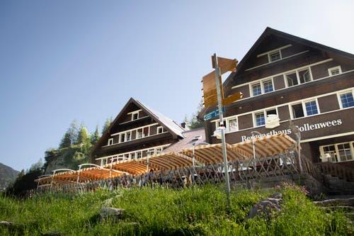 Anziehungspunkt für viele Wanderer und Bergsteiger: das Berggasthaus Bollenwees. (Bild: Ralph Ribi)