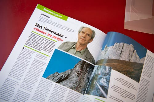 Artikel in Bergsteiger-Zeitschriften erzählen von den Touren Max Niedermanns. (Bild: Ralph Ribi)