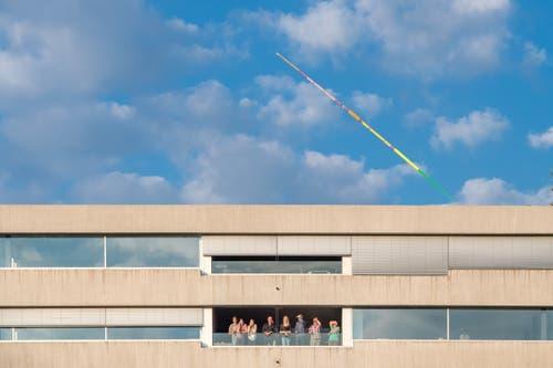 Wie weit dieser Speer wohl geflogen ist? (Bild: Pius Amrein. Luzern, 9. Juli 2019)