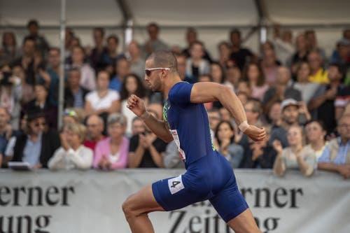 Kariem Hussein in Aktion. (Bild: Urs Flüeler/Keystone, Luzern, 9. Juli 2019)