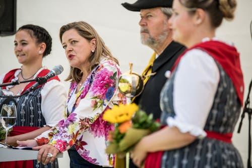 Einst war die Urnerin Bundesratskandidatin, heute sprach sie an einem geschichtsträchtigen Ort zum Schweizer Volk. (Bild: Nadia Schärli, Rütli, 1. August 2019)