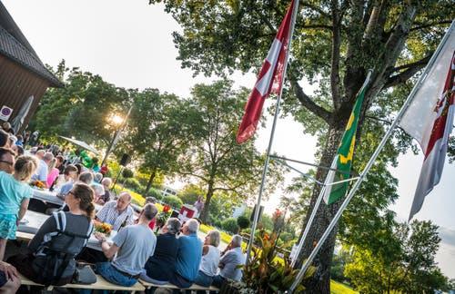 Frauenfeld TG - 1. Augustfeier am 31.7.19 bei der Rüegerholzhalle in Frauenfeld. Ansprache von Gemeinderatspräsidentin Severine Hänni