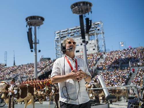 Der Tessiner Regisseur Daniele Finzi Pasca (im Bild) hat mit den von ihm konzipierten Freilichtvorführungen offensichtlich den Publikumsgeschmack getroffen. (Bild: KEYSTONE/JEAN-CHRISTOPHE BOTT)