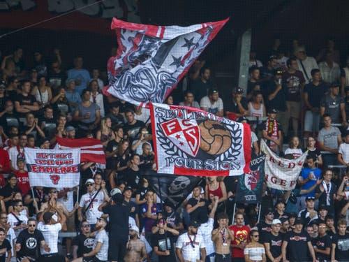Die Sittener Fans hatten Grund zum Jubeln (Bild: KEYSTONE/SALVATORE DI NOLFI)