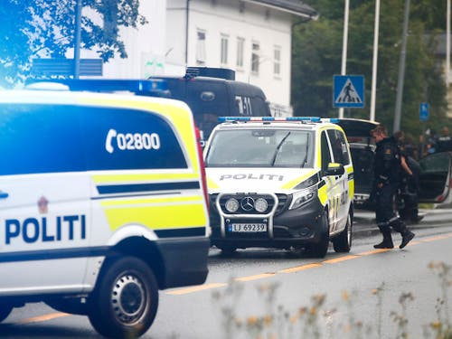 Am Wohnort des Mannes, der eine Moschee in Oslo angegriffen haben soll, wurde eine Leiche gefunden - nach Polizeiangaben handelt es sich um eine Verwandte des mutmasslichen Täters. (Bild: KEYSTONE/AP NTB Scanpix/TERJE PEDERSEN)