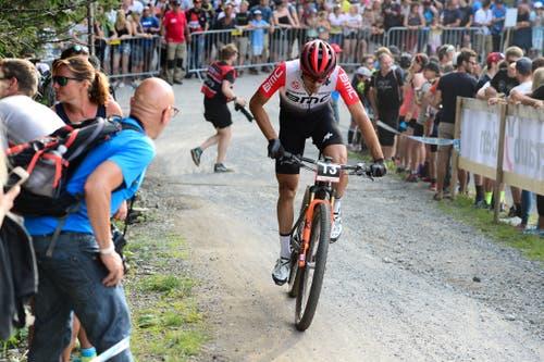 Das Rennen lief nicht wunschgemäss und es resultierte ein 29. Rang. (Bild: Roland Jauch, Lenzerheide, 9. August 2019)