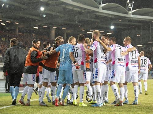 Für Linz geht die Reise in Richtung Champions League damit weiter - die letzte Hürde zur der Gruppenphase heisst Brügge (Bild: KEYSTONE/APA/APA/EXPA/REINHARD EISENBAUER)