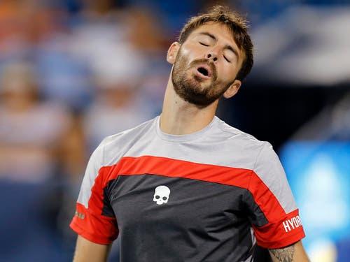 Juan Ignacio Londero traf erstmals gegen Roger Federer an (Bild: KEYSTONE/AP The Cincinnati Enquirer/SAM GREENE)