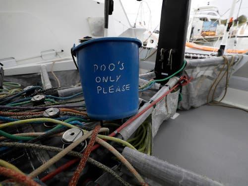 Wenig Komfort auf der Überfahrt von Plymouth nach New York: Die Toilette an Bord. (Bild: KEYSTONE/AP/KIRSTY WIGGLESWORTH)