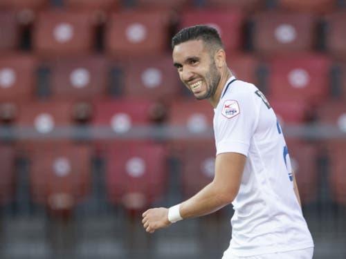 Neuzuzug Mimoun Mahi besorgt dem FCZ den ersten Sieg der Saison (Bild: KEYSTONE/ENNIO LEANZA)