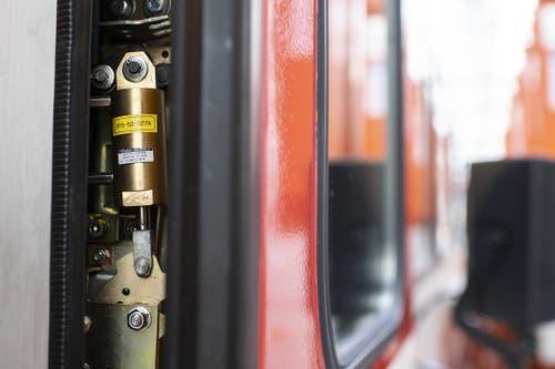 Die technische Anlage des Einklemmschutzes (Bild: Keystone/Ennio Leanza)
