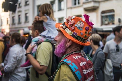 Bunt wie das diesjährige St.Galler Fest. (Bild: Michel Canonica - 16. August 2019)