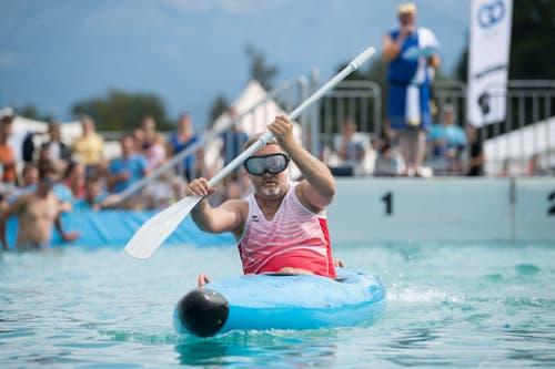 Michi Widmer ist Teil des Teams Sursee. (Bild: Eveline Beerkircher, Sempach, 17. August 2019)
