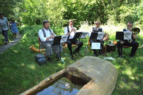 Klang-Spaziergang: Quartett Peter Gisler. (Bild: Urs Hanhart, 18. August 2019)