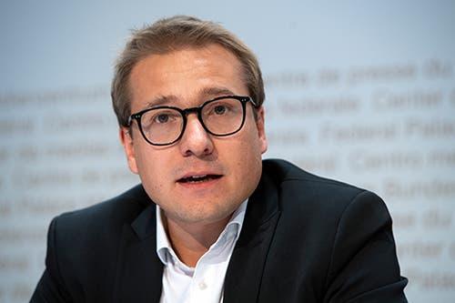 Philippe Nantermod, FDP. (Bild: KEYSTONE / ANTHONY ANEX)