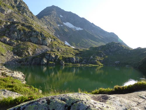 Der Bristensee, am Fusse des Bristenstocks, immer ein wunderbarer Kraftort. (Bild: Gustav Tresch, 18. August 2019)