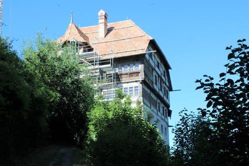 Die Gesamtsanierung von Schloss Zuckenriet wird noch Jahre dauern.