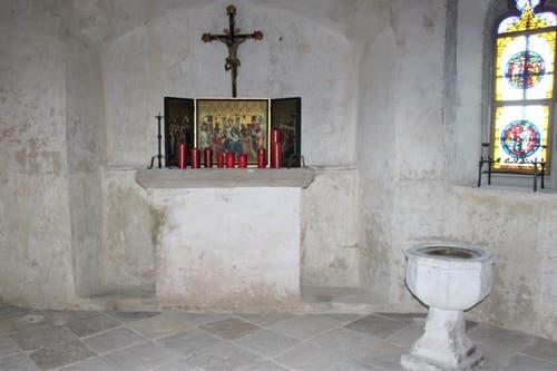 Die Schlosskapelle von 1476 ist wieder im ursprünglichen Zustand.