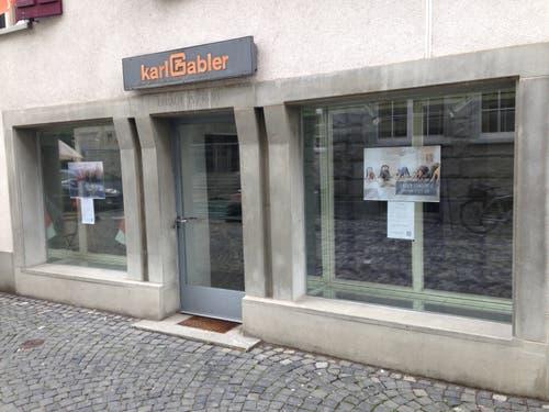Kirchgasse 12: Der befand sich einst ein Standort des Sanitärgeschäfts Karl Gabler AG. Am 7. September eröffnet hier ein Yoga-Shop. (Bild: Reto Voneschen - 21.8.2019)