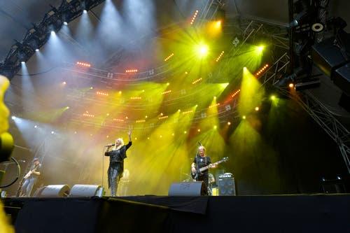 Die Rockröhre aus Wales: Bonnie Tyler bei ihrem Auftritt in Arbon. (Bild: Donato Caspari)