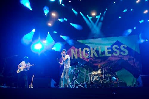 Die Band Nickless trat auf der V-Zug-Arena-Bühne auf. (Bild: Maria Schmid, Zug, 23. August 2019)