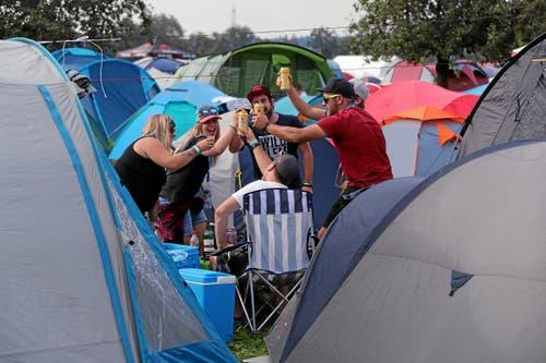 Impression vom Campingplatz am Freitag. (Bild: swiss-image.ch/Andy Mettler)